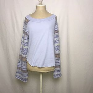 Free People Tribal Print Sweater (Size: S & M)
